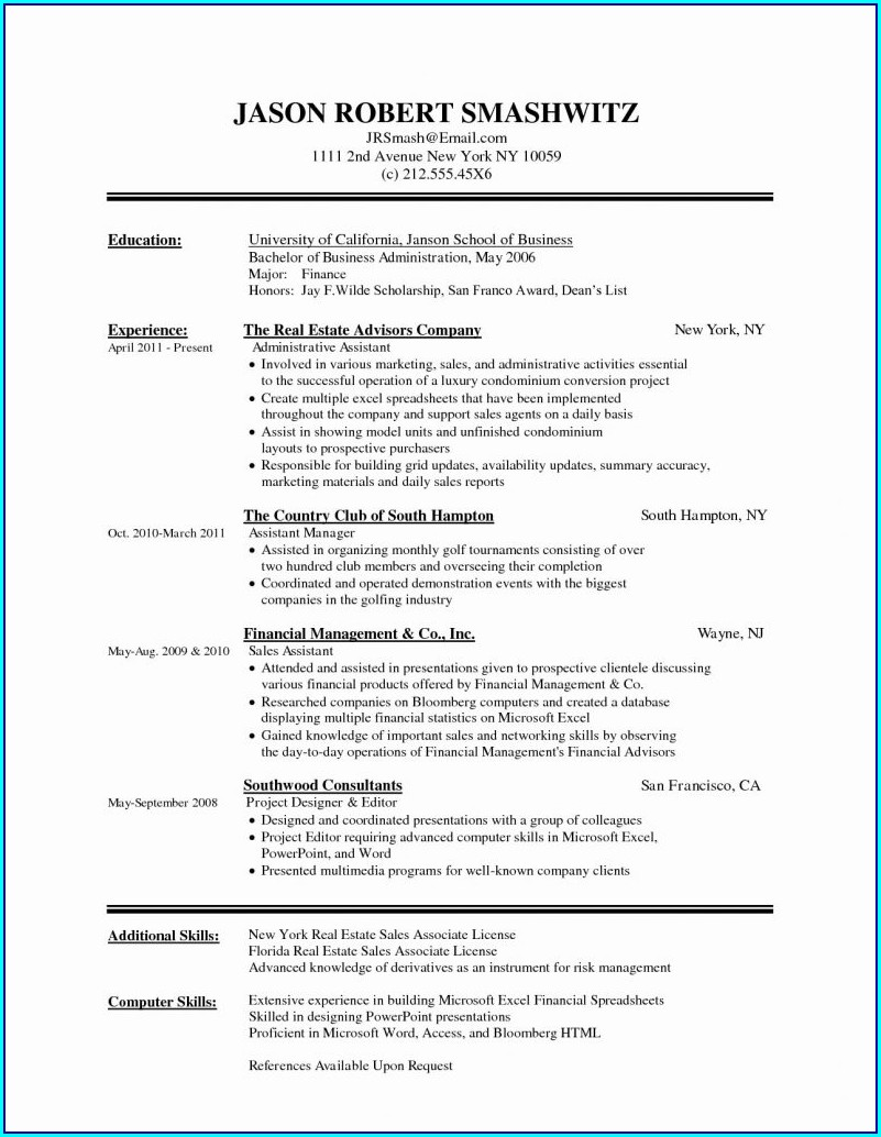Basic Resume Template Google Docs