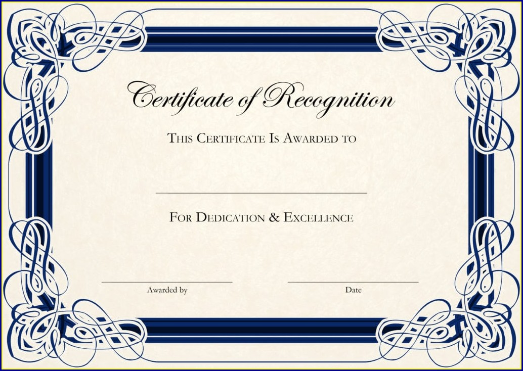 Certificate Of Appreciation Template Download