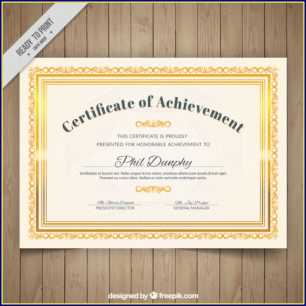 Certificate Of Appreciation Template Psd Free Download