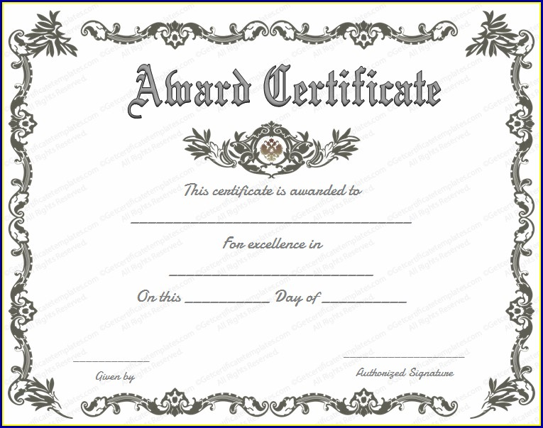 Customizable Certificate Of Appreciation Template