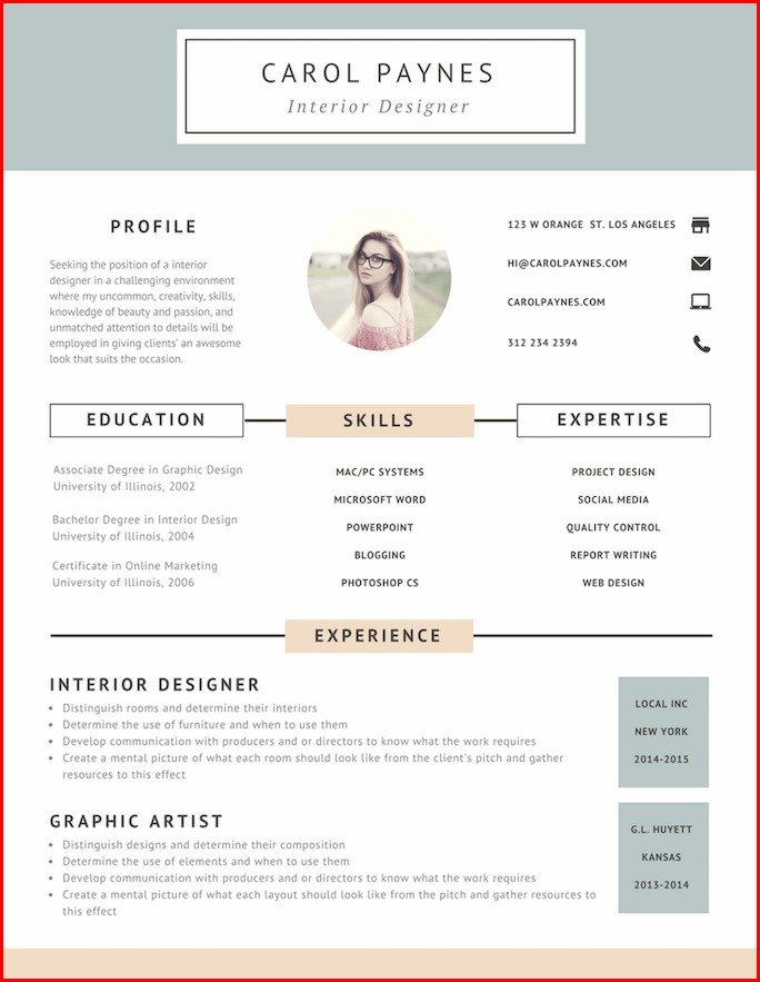 Free Creative Resume Templates Online
