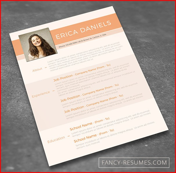 Free Editable Creative Resume Templates Word