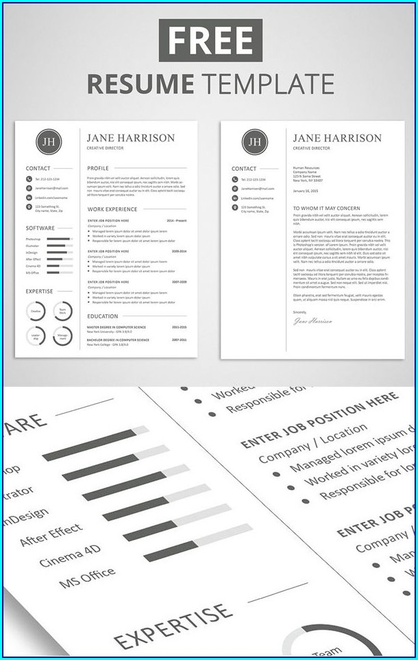 Free Resume Template Pinterest