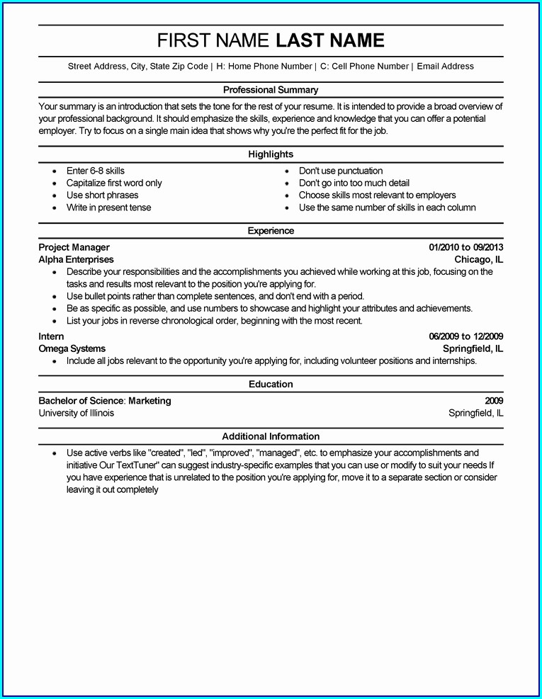 Free Resume Templates You Can Save Your Computer