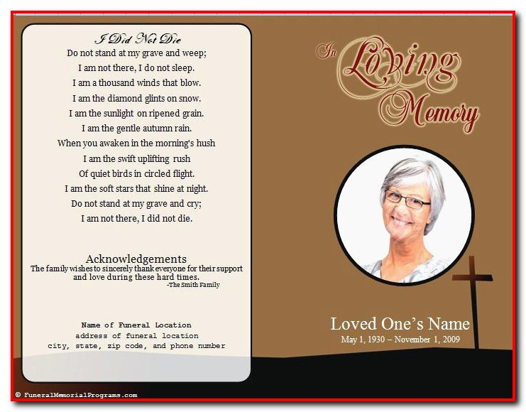 Funeral Program Template For Mac