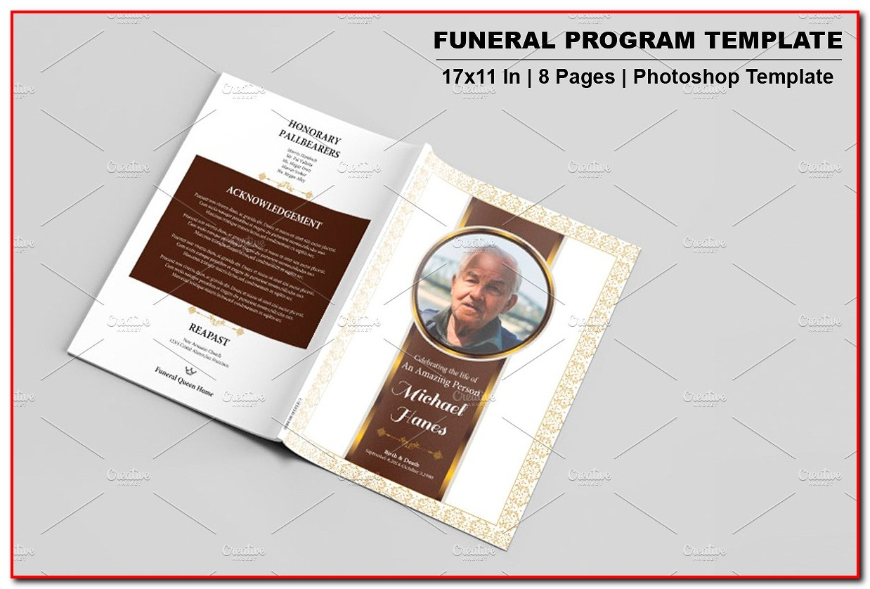 Funeral Program Template Pages
