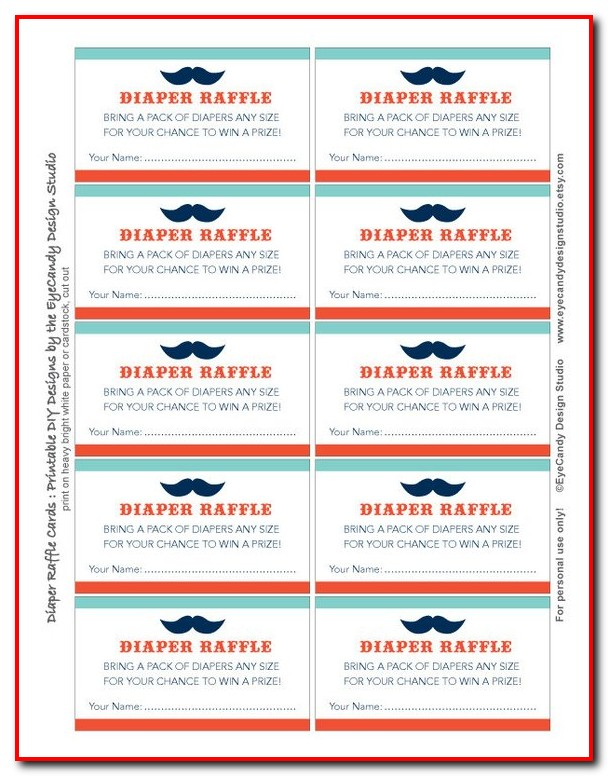 Gas Card Raffle Ticket Template
