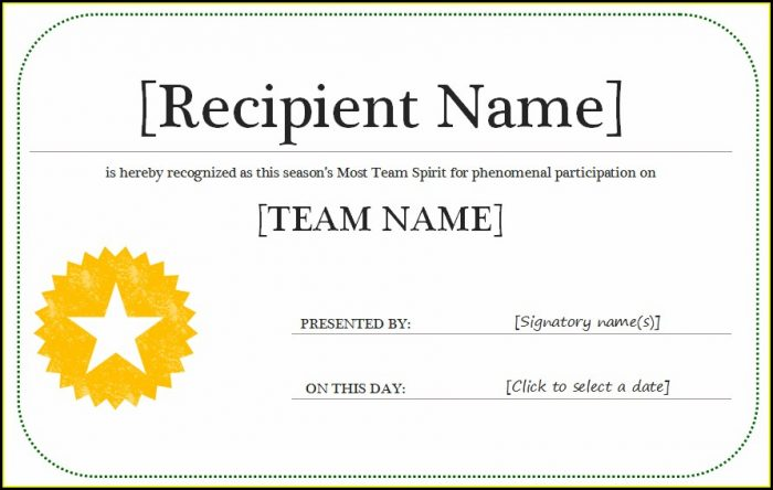 Life Saving Award Certificate Template