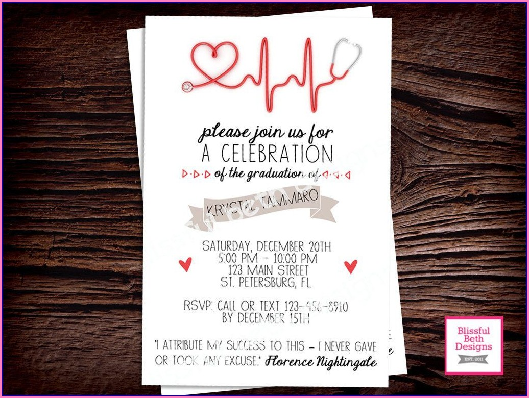 Nursing Graduation Invitation Templates Free