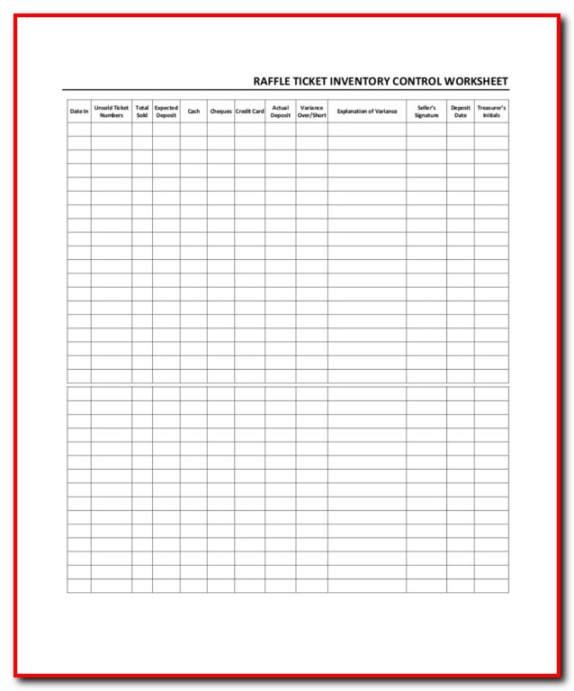 Raffle Ticket Sales Tracking Template