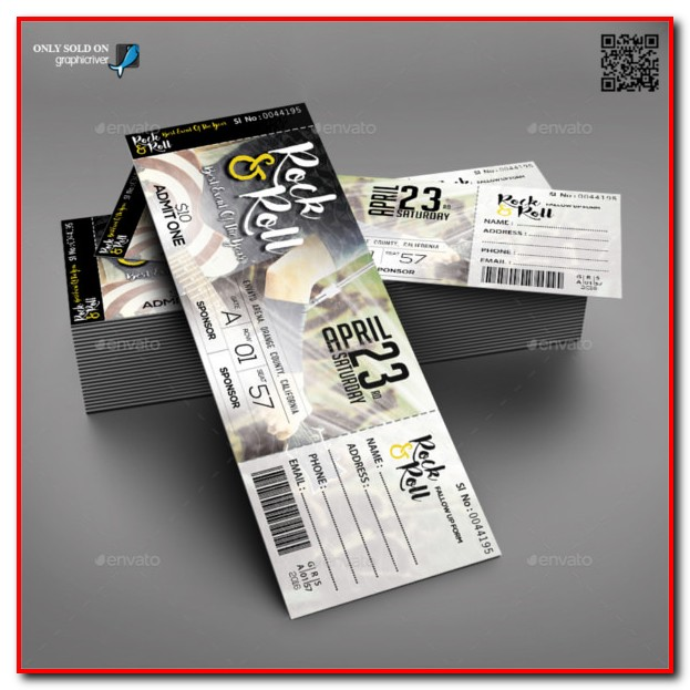 Raffle Ticket Template Psd