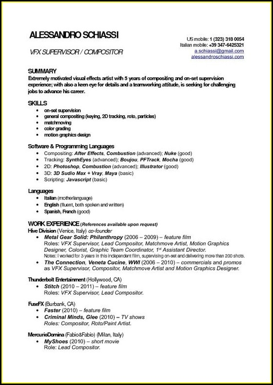 Resume Templates For Freshers In Word Format