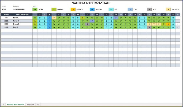 Work Schedule Template Excel