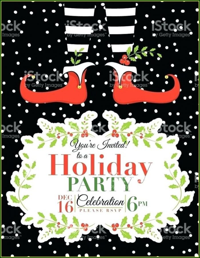 Christmas Party Invitation Templates Word