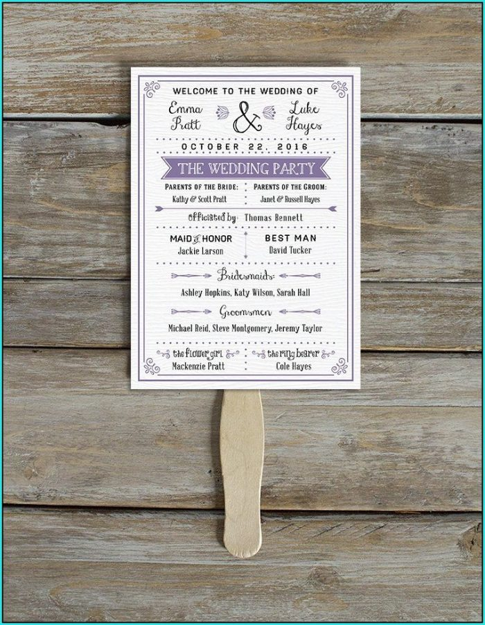 Free Downloadable Rustic Wedding Program Templates
