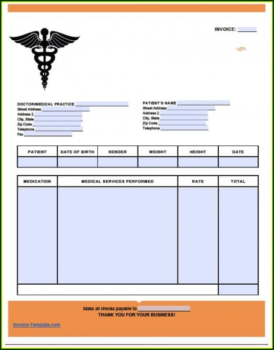 Free Medical Invoice Template Word
