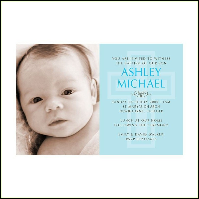 Free Online Christening Invitation Templates
