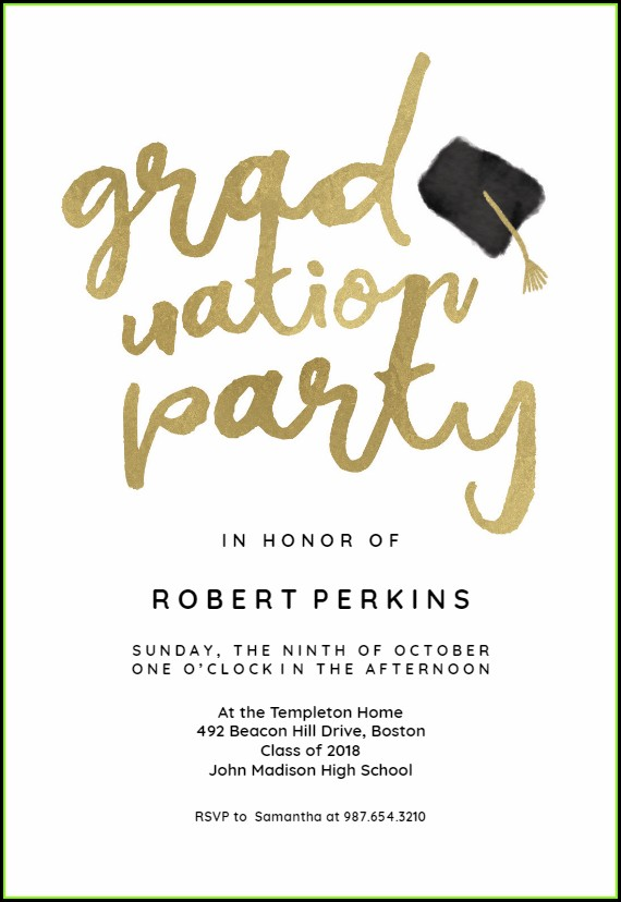 Free Online Graduation Party Invitation Templates
