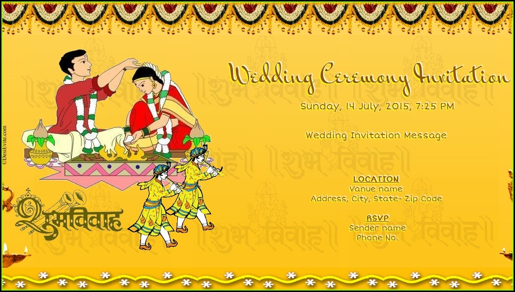 Free Online Indian Wedding Invitation Cards Templates