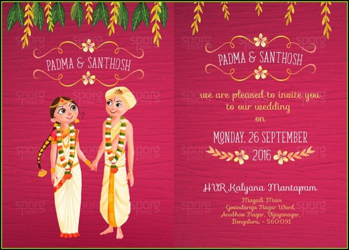 Free Online Indian Wedding Invitation Templates