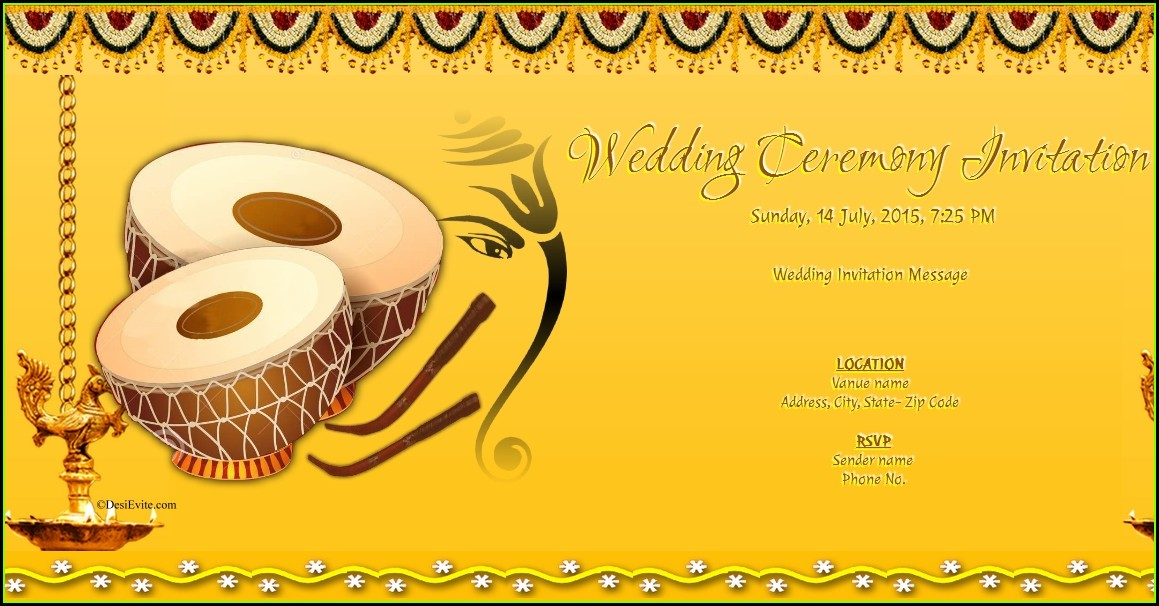 Free Online Invitation Templates India