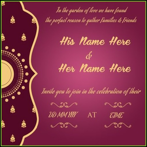 Free Online Wedding Invitation Cards Templates