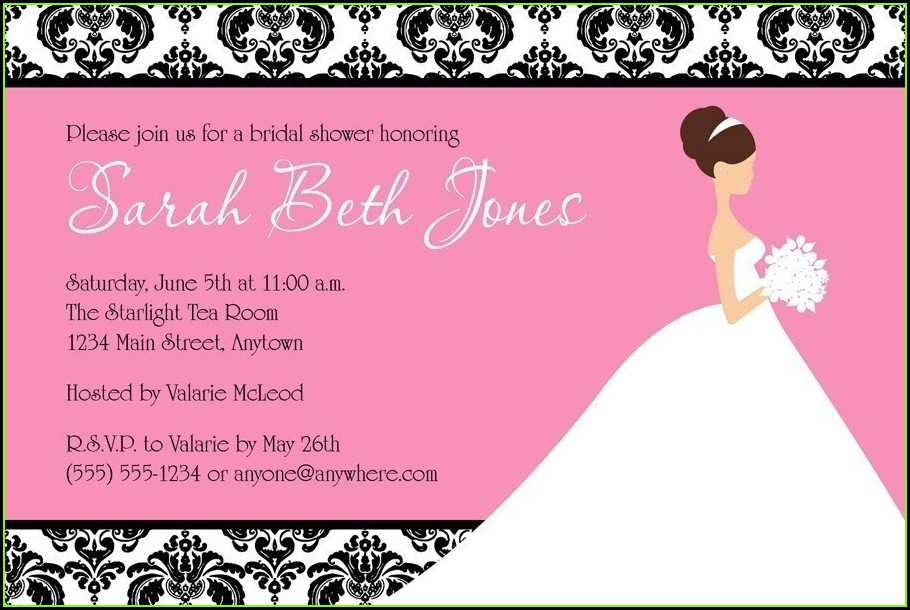 Free Online Wedding Shower Invitation Templates