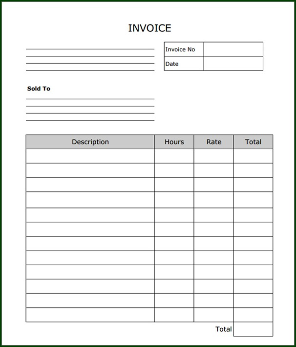 Free Printable Business Invoice Template