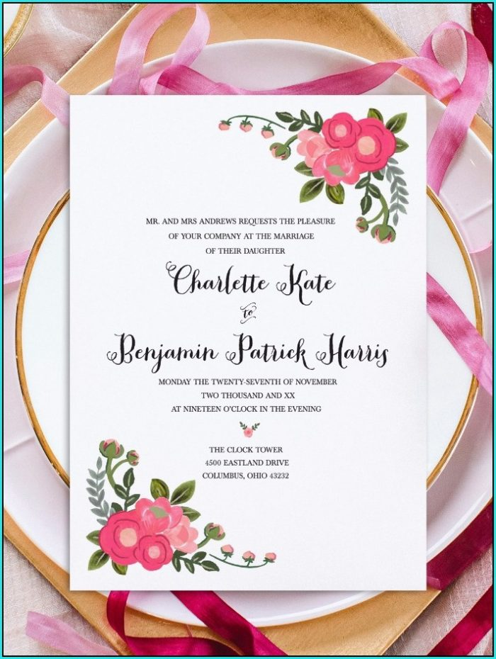 Free Printable Invitation Templates