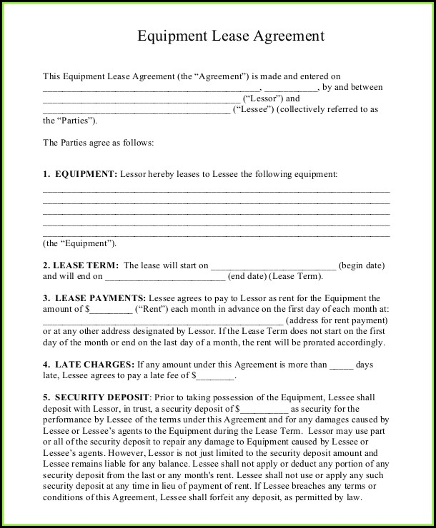 Free Printable Lease Agreement Template Word