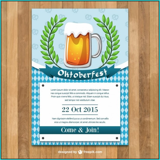 Free Printable Oktoberfest Invitations Templates