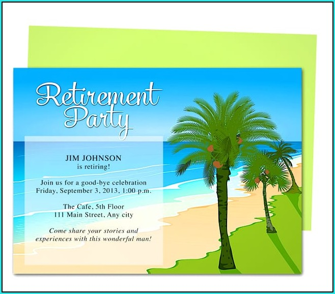 Free Printable Retirement Invitation Templates