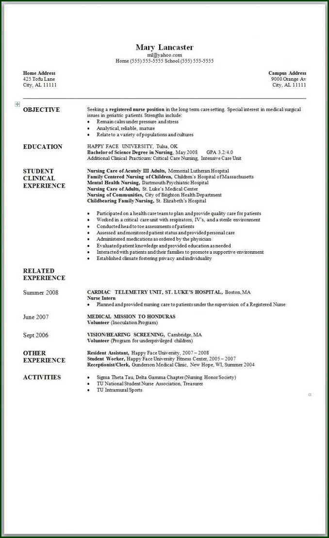 Free Resume Templates Microsoft Word 2007