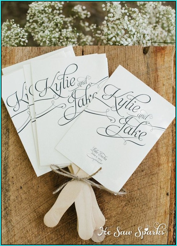 Free Wedding Program Cover Templates