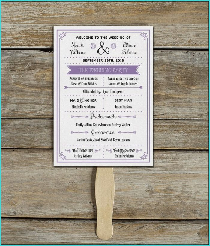 Free Wedding Program Templates Psd