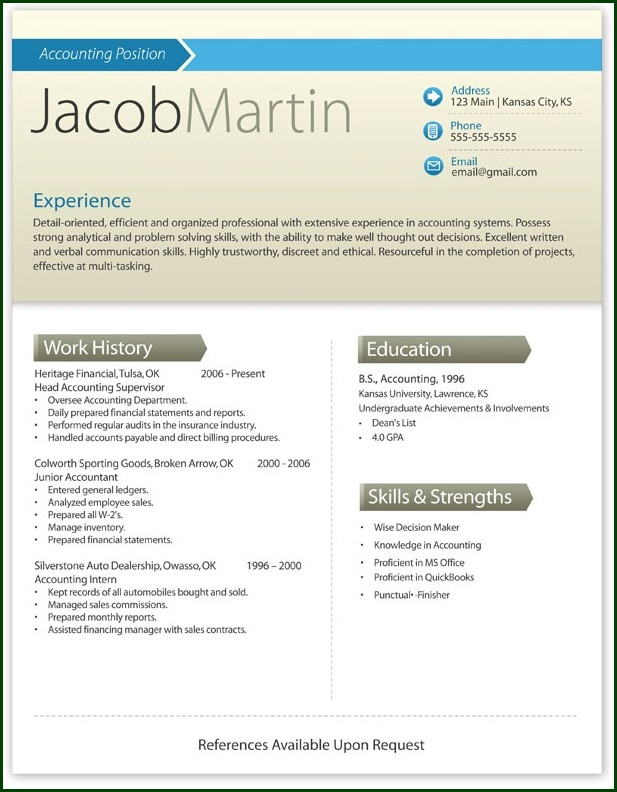 Free Word Resume Templates Microsoft Word