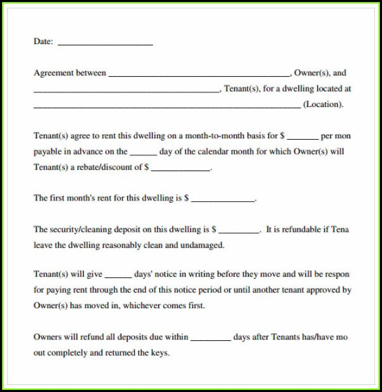 Lease Agreement Format In Word
