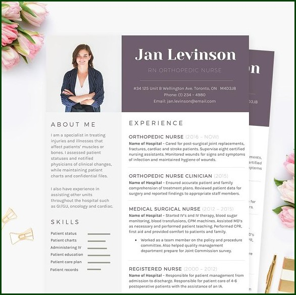 Nursing Resume Template Microsoft Word