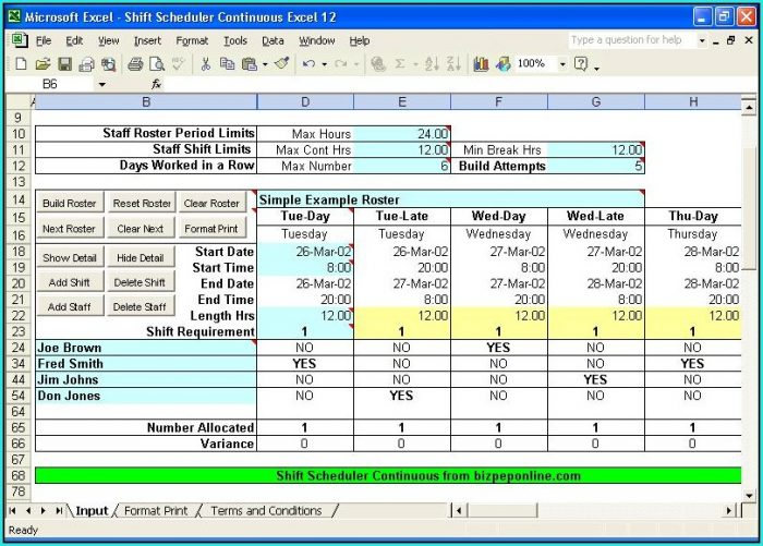 Project Management Work Plan Template Excel