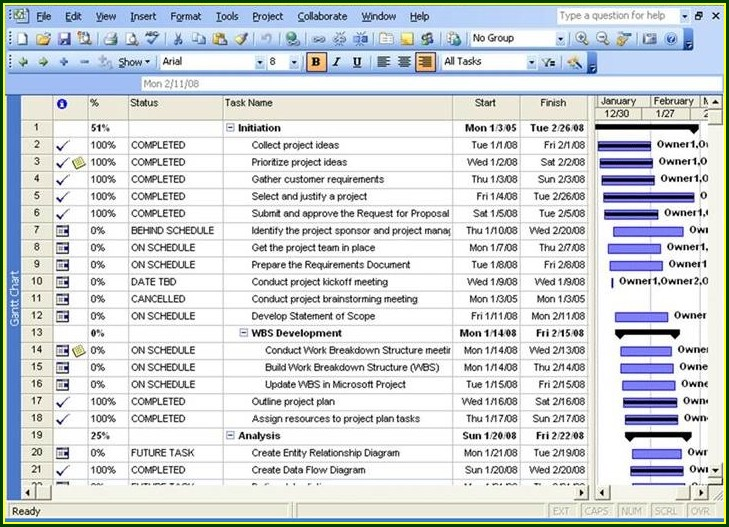 Project Planner Template Excel 2013
