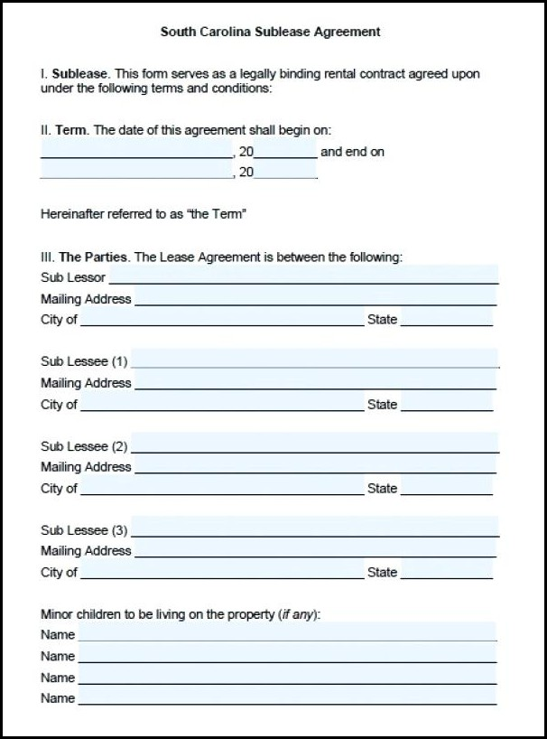 Sublease Agreement Template Singapore