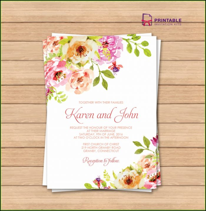 Wedding Invitation Templates Online Edit Free