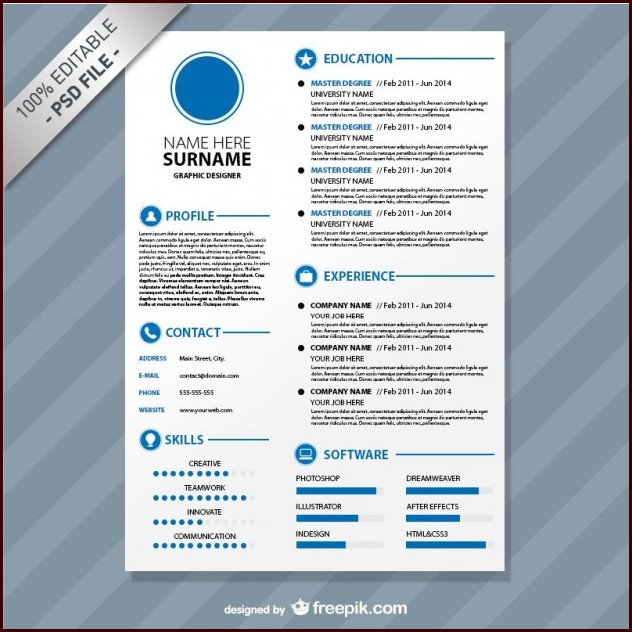 Download Editable Resume Templates