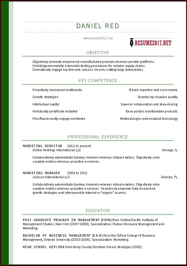 Download Free Resume Templates 2017