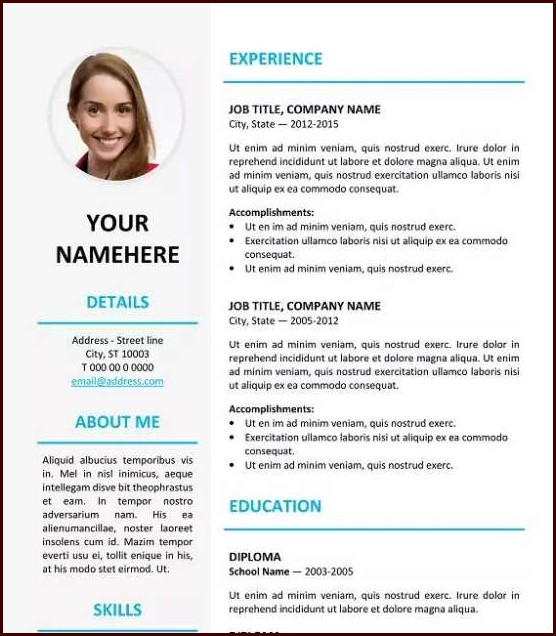 Download Resume Templates Docx