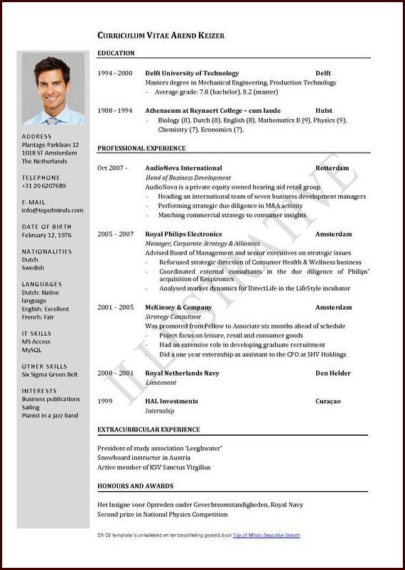 Download Resume Templates For Word
