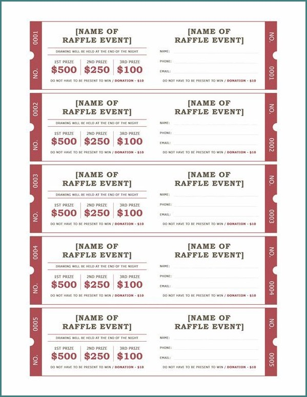 Free 50.50 Raffle Ticket Template