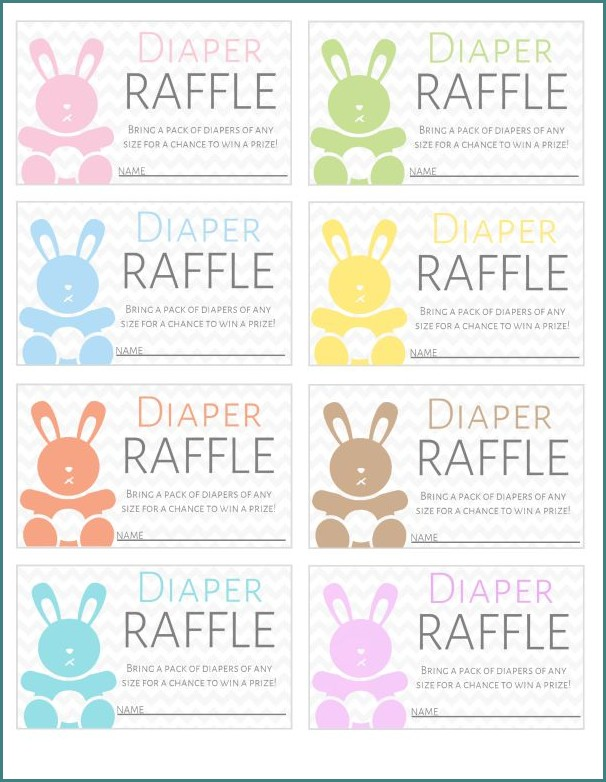 Free Diaper Raffle Ticket Template