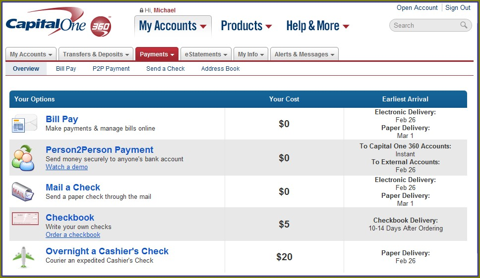 Capital One Bank Statement Template