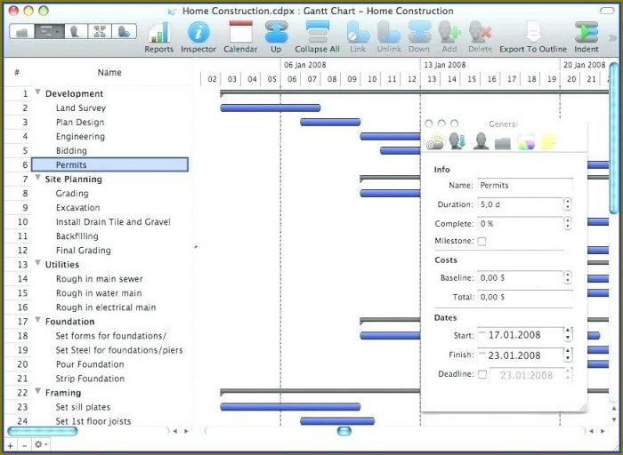 Free Gantt Chart Template For Mac Numbers